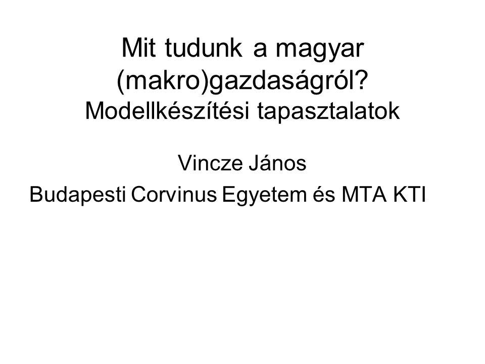 Mit tudunk a magyar (makro)gazdaságról Modellkészítési tapasztalatok