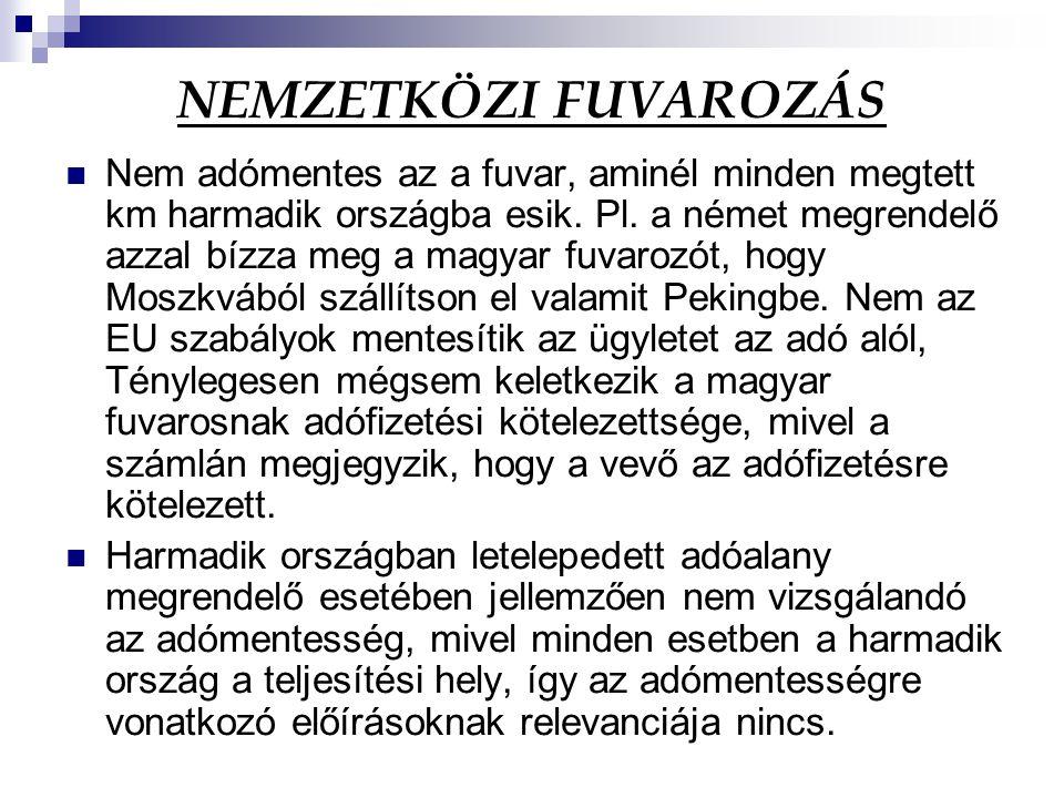 NEMZETKÖZI FUVAROZÁS