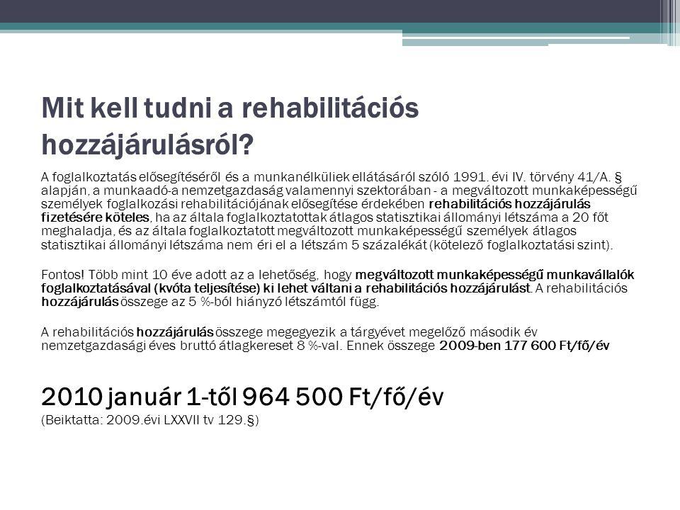 Mit kell tudni a rehabilitációs hozzájárulásról