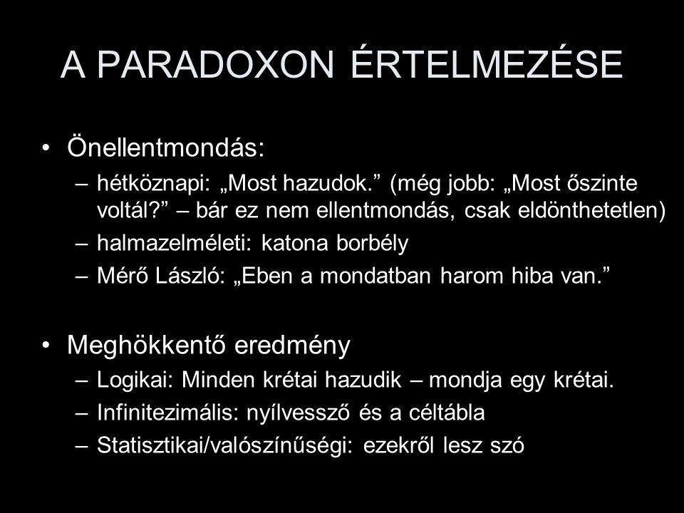 A PARADOXON ÉRTELMEZÉSE