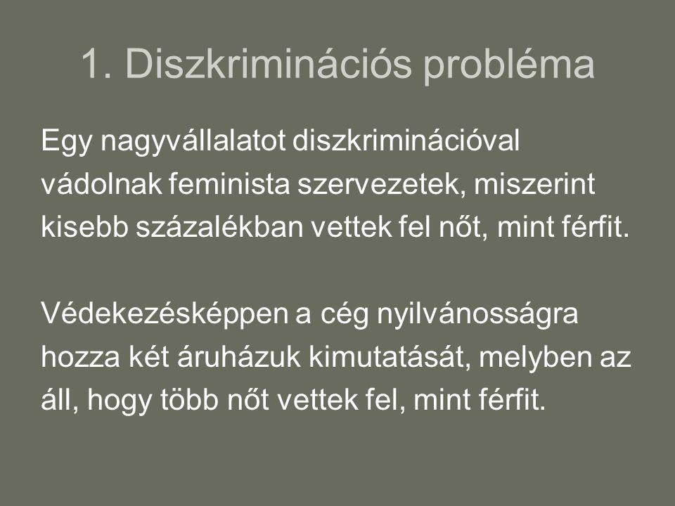 1. Diszkriminációs probléma