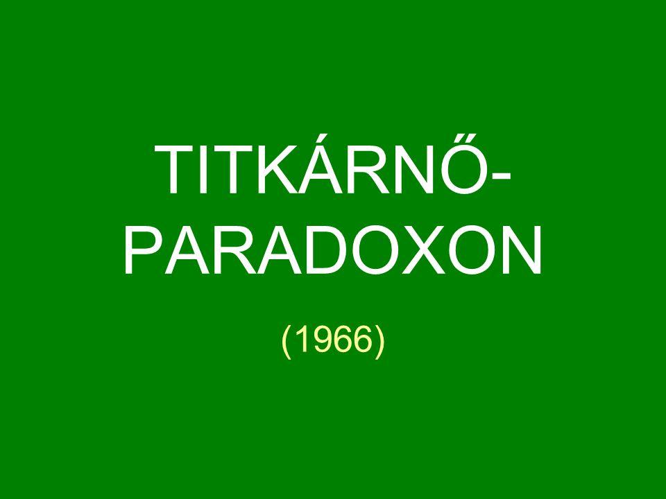TITKÁRNŐ-PARADOXON (1966)