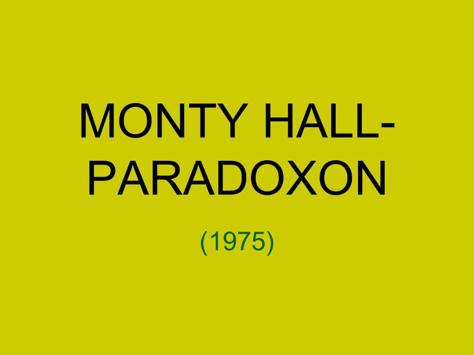 MONTY HALL-PARADOXON (1975)