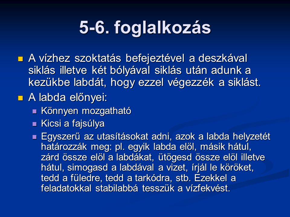 5-6. foglalkozás