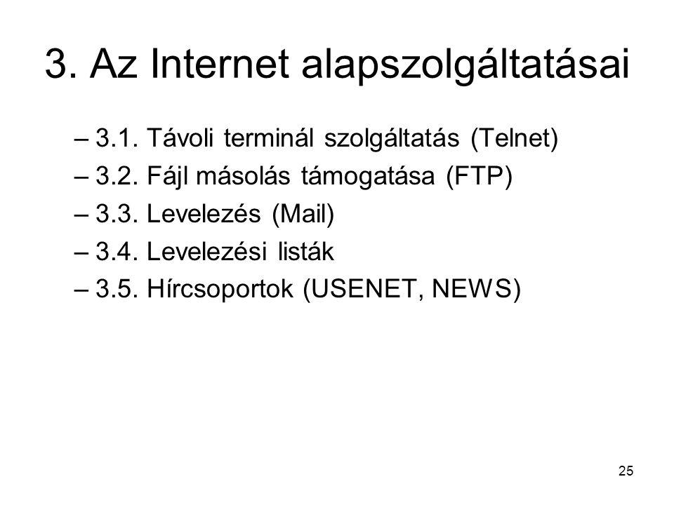 3. Az Internet alapszolgáltatásai