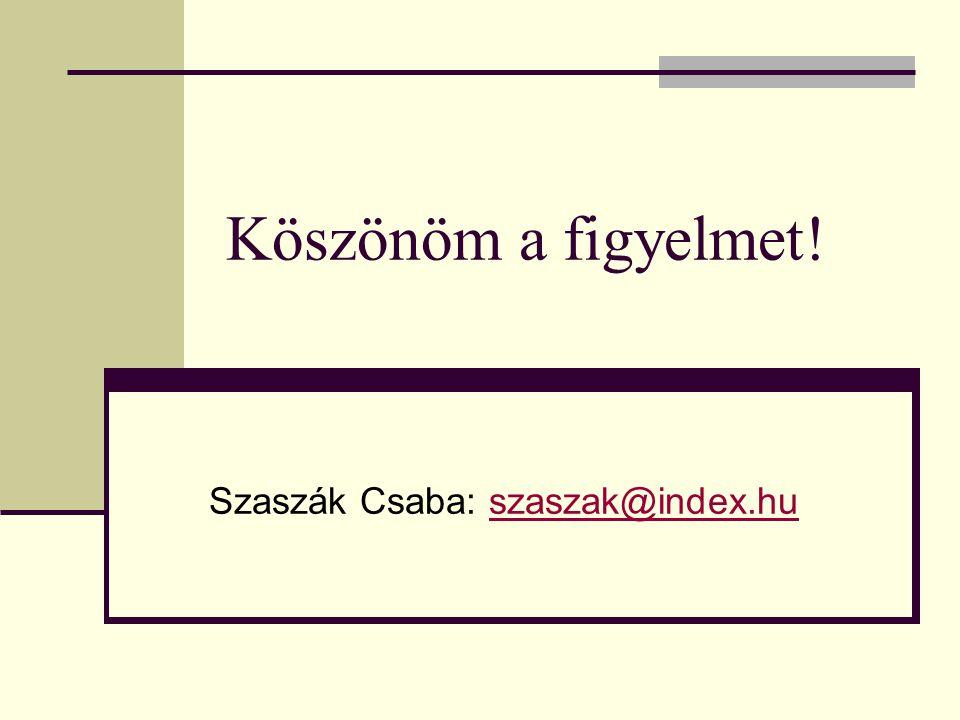 Szaszák Csaba: szaszak@index.hu