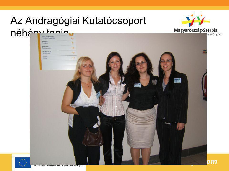 Az Andragógiai Kutatócsoport néhány tagja