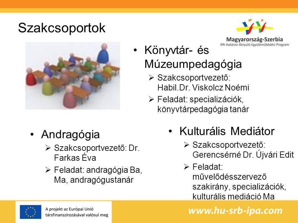 Szakcsoportok Könyvtár- és Múzeumpedagógia Kulturális Mediátor