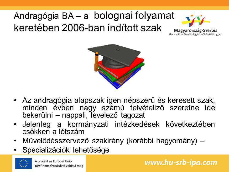 Andragógia BA – a bolognai folyamat keretében 2006-ban indított szak