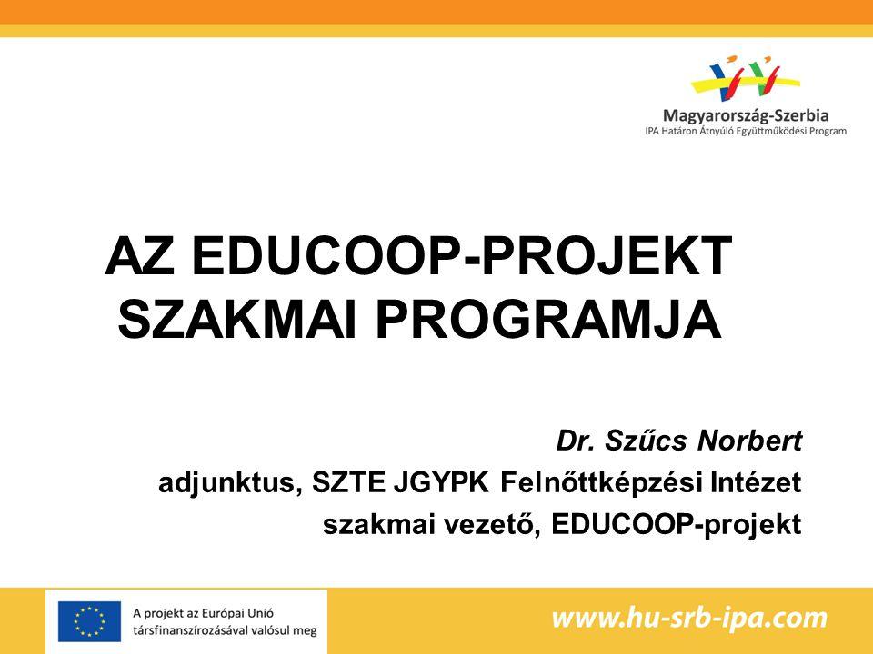 Az EDUCOOP-projekt szakmai programja