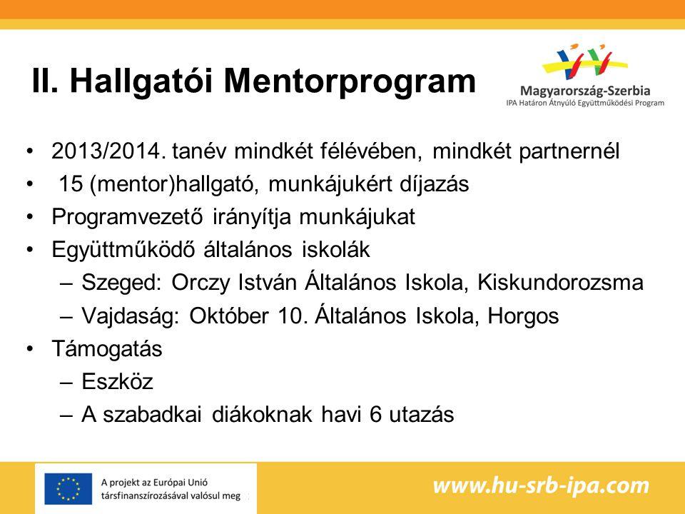 II. Hallgatói Mentorprogram