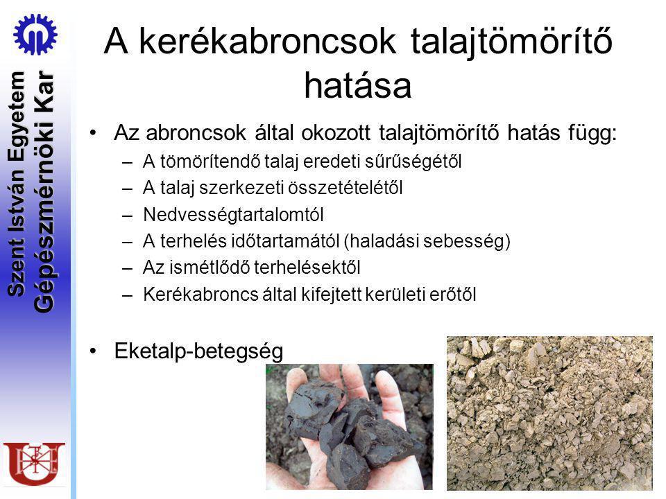 A kerékabroncsok talajtömörítő hatása