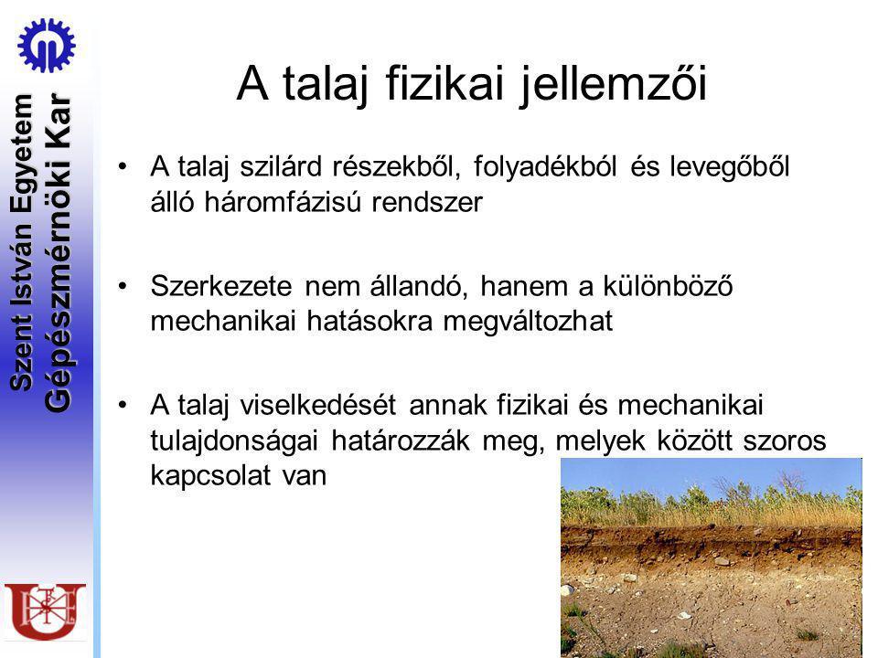A talaj fizikai jellemzői