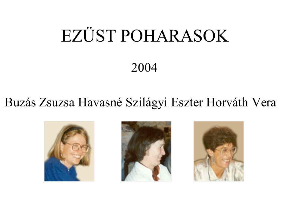 Buzás Zsuzsa Havasné Szilágyi Eszter Horváth Vera