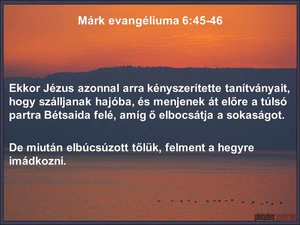 Márk evangéliuma 6:45-46