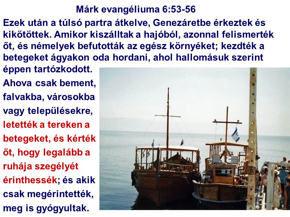 Márk evangéliuma 6:53-56