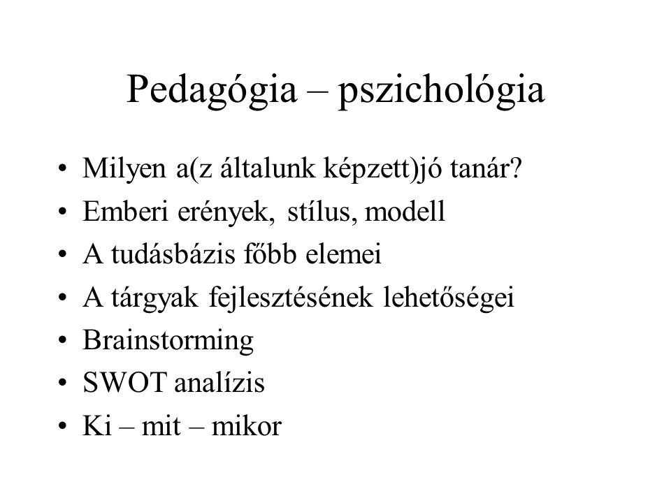 Pedagógia – pszichológia