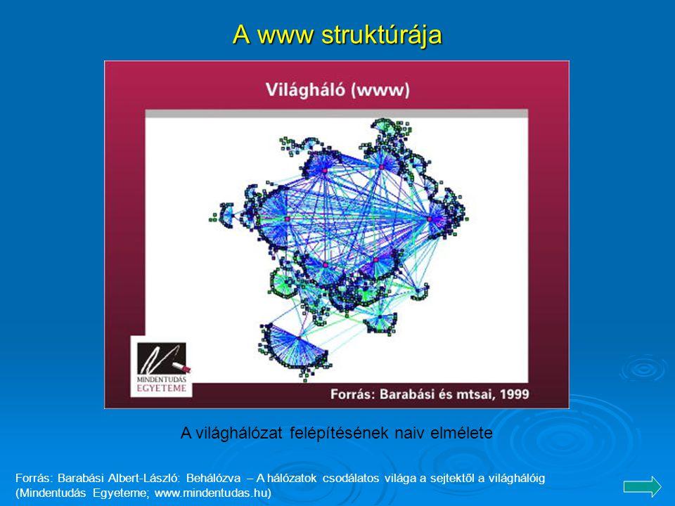 A www struktúrája A világhálózat felépítésének naiv elmélete