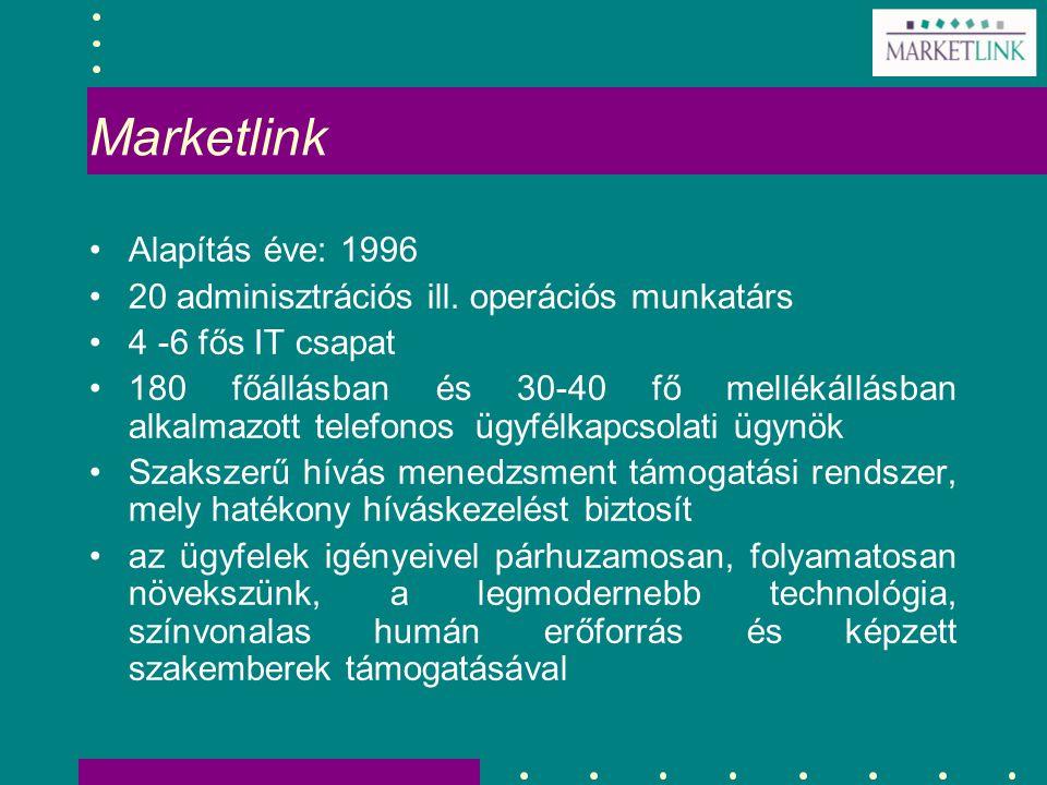 Marketlink Alapítás éve: 1996