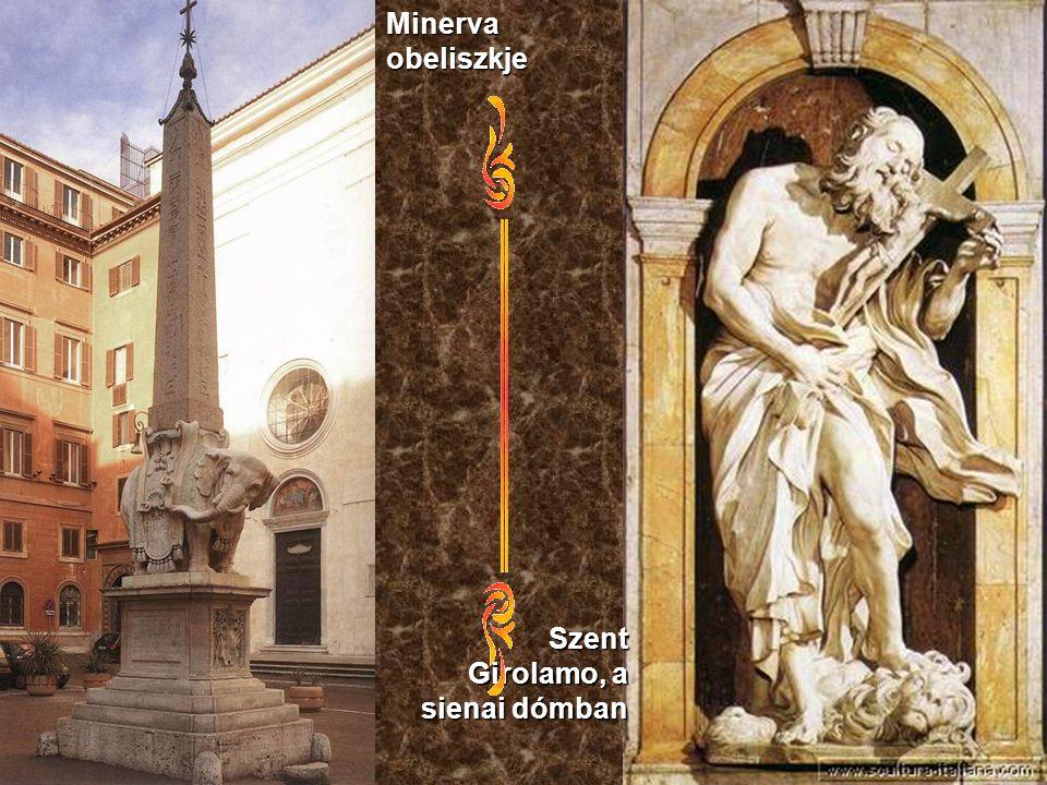 Minerva obeliszkje Szent Girolamo, a sienai dómban