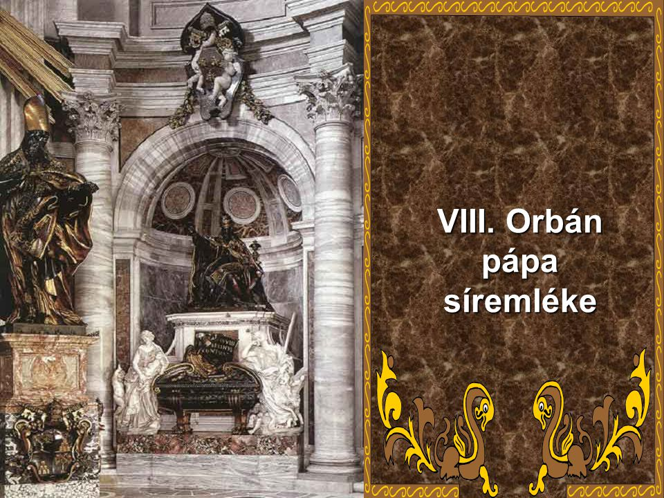 VIII. Orbán pápa síremléke