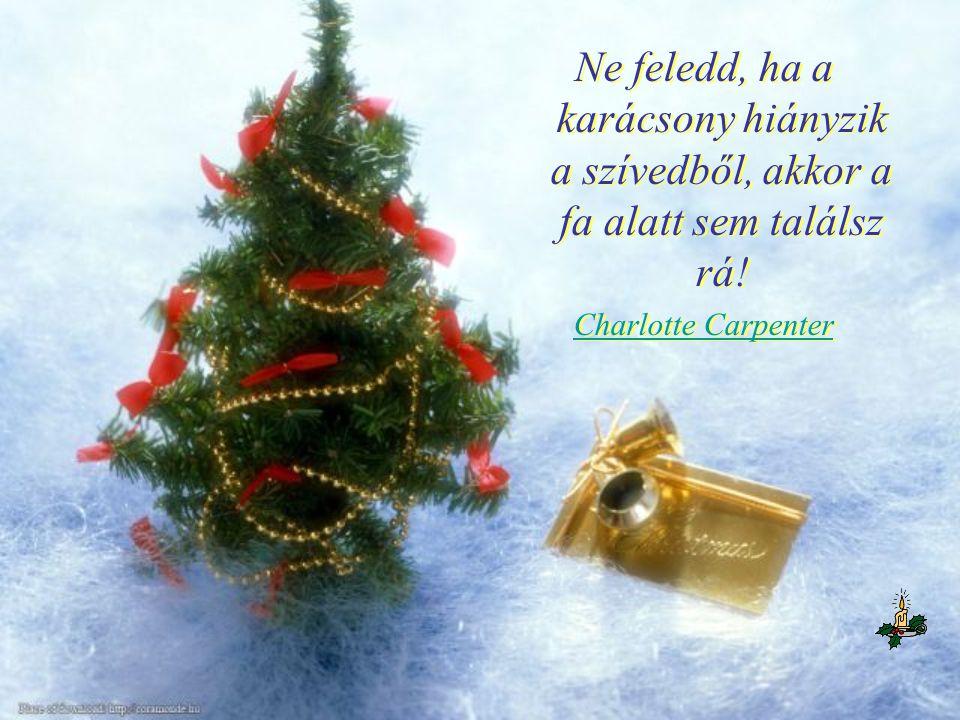 Ne feledd, ha a karácsony hiányzik a szívedből, akkor a fa alatt sem találsz rá!