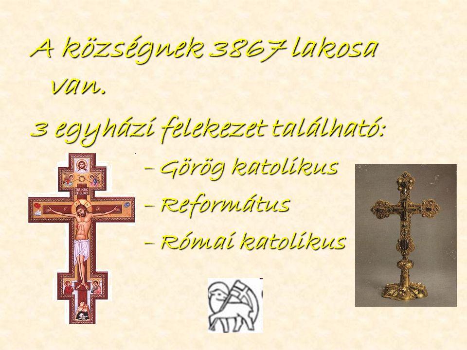 A községnek 3867 lakosa van. 3 egyházi felekezet található: