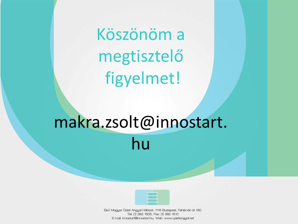 Köszönöm a megtisztelő figyelmet! makra.zsolt@innostart.hu