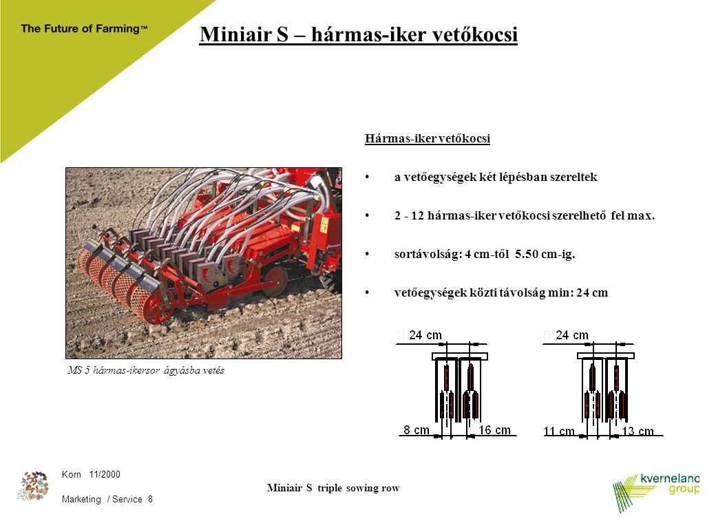 Miniair S triple sowing row