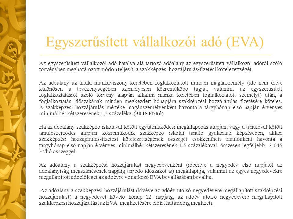 Egyszerűsített vállalkozói adó (EVA)