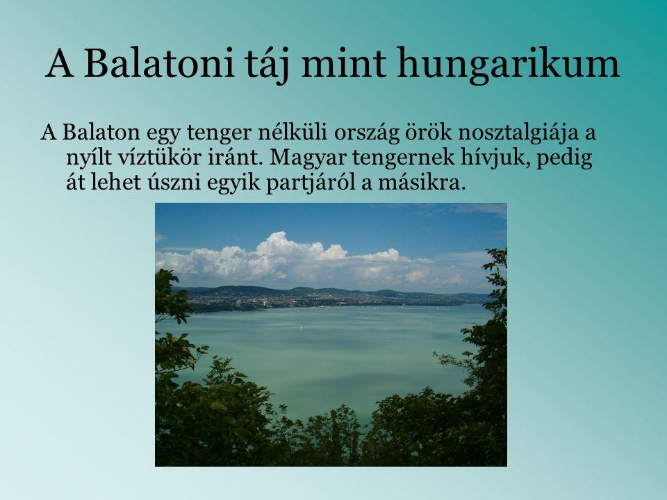 A Balatoni táj mint hungarikum
