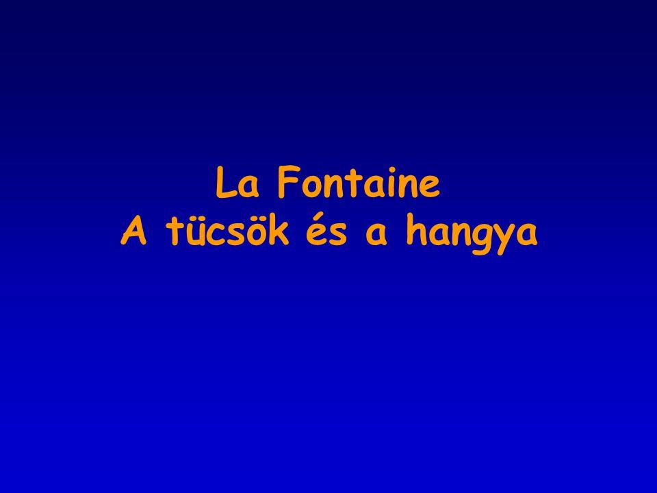 La Fontaine A tücsök és a hangya
