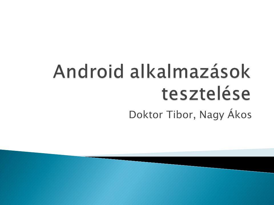 Android alkalmazások tesztelése