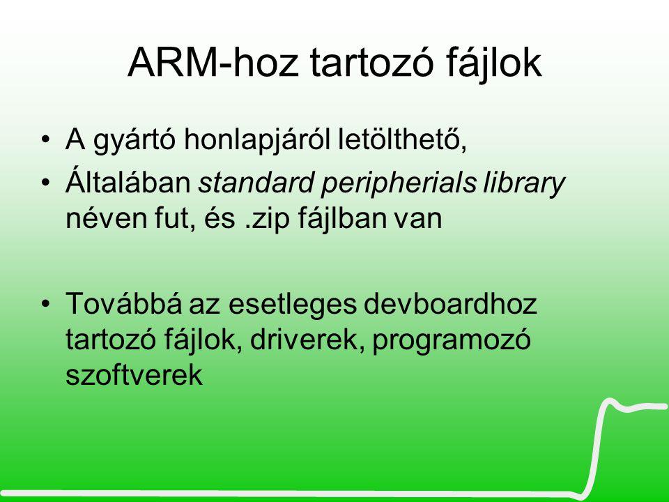 ARM-hoz tartozó fájlok