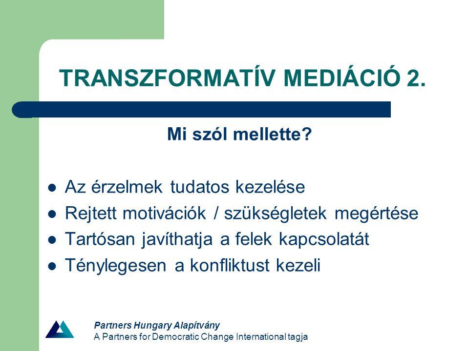 TRANSZFORMATÍV MEDIÁCIÓ 2.