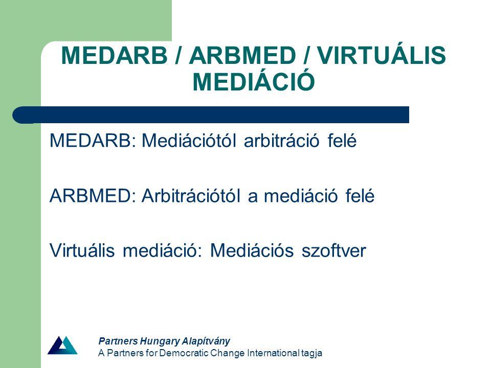 MEDARB / ARBMED / VIRTUÁLIS MEDIÁCIÓ