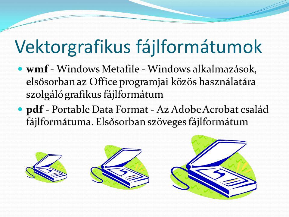 Vektorgrafikus fájlformátumok