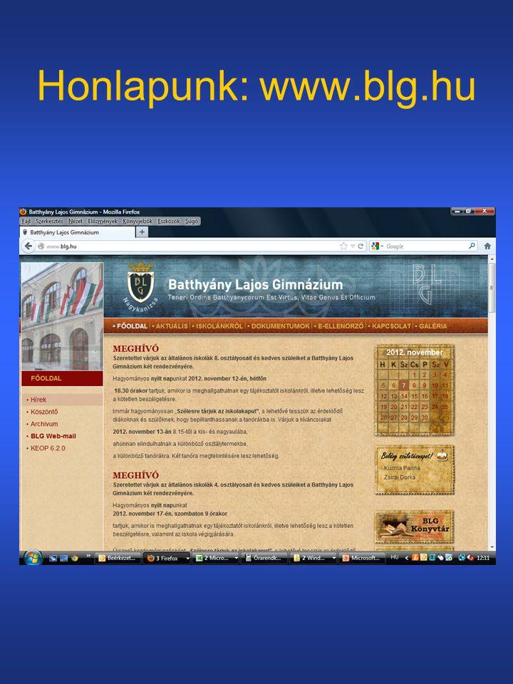 Honlapunk: www.blg.hu