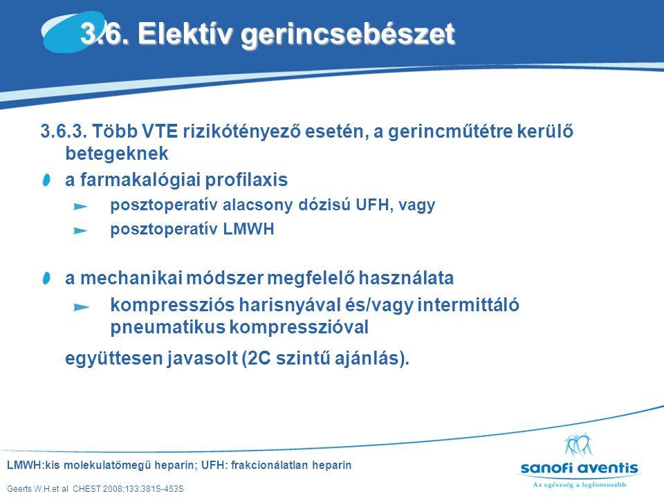 3.6. Elektív gerincsebészet