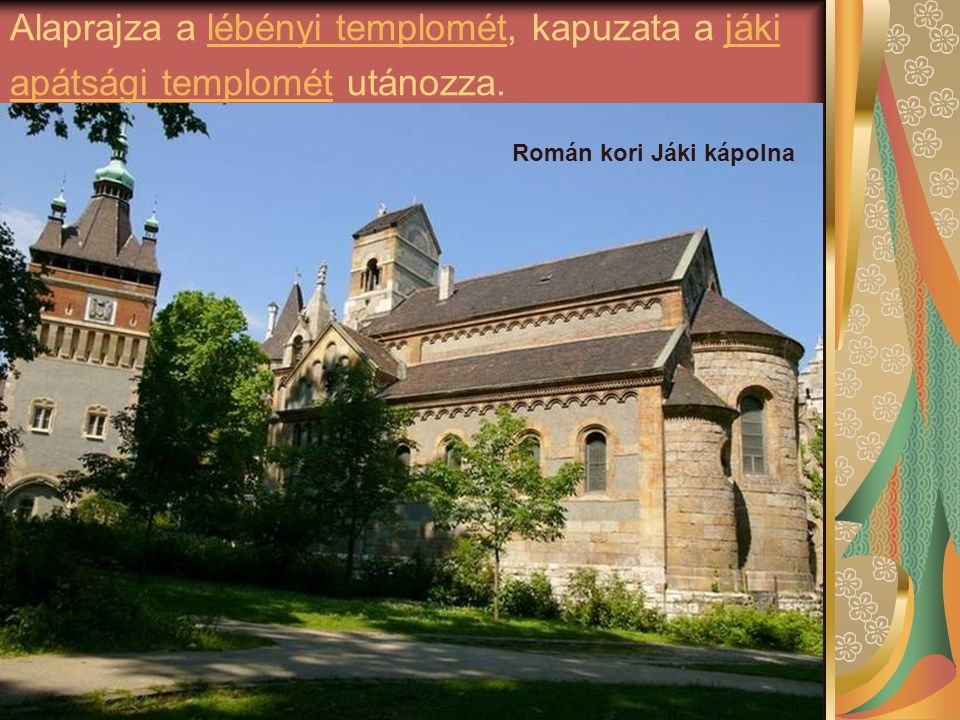 Román kori Jáki kápolna