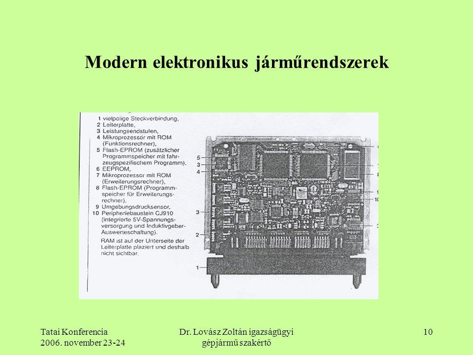 Modern elektronikus járműrendszerek