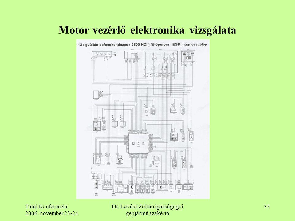 Motor vezérlő elektronika vizsgálata