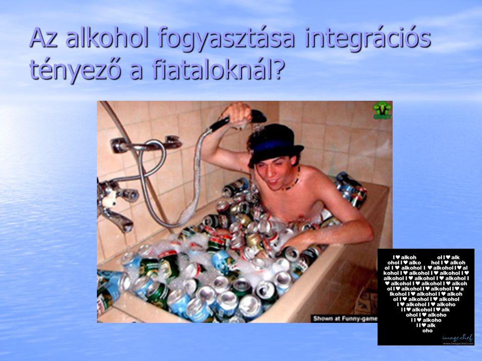 Az alkohol fogyasztása integrációs tényező a fiataloknál
