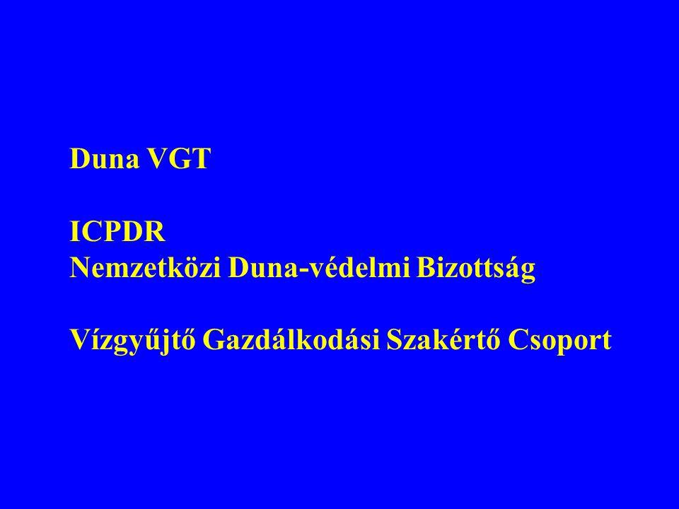 Duna VGT ICPDR Nemzetközi Duna-védelmi Bizottság Vízgyűjtő Gazdálkodási Szakértő Csoport