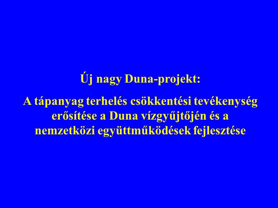 Új nagy Duna-projekt: A tápanyag terhelés csökkentési tevékenység erősítése a Duna vízgyűjtőjén és a nemzetközi együttműködések fejlesztése.
