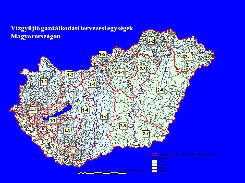 Vízgyűjtő gazdálkodási tervezési egységek Magyarországon