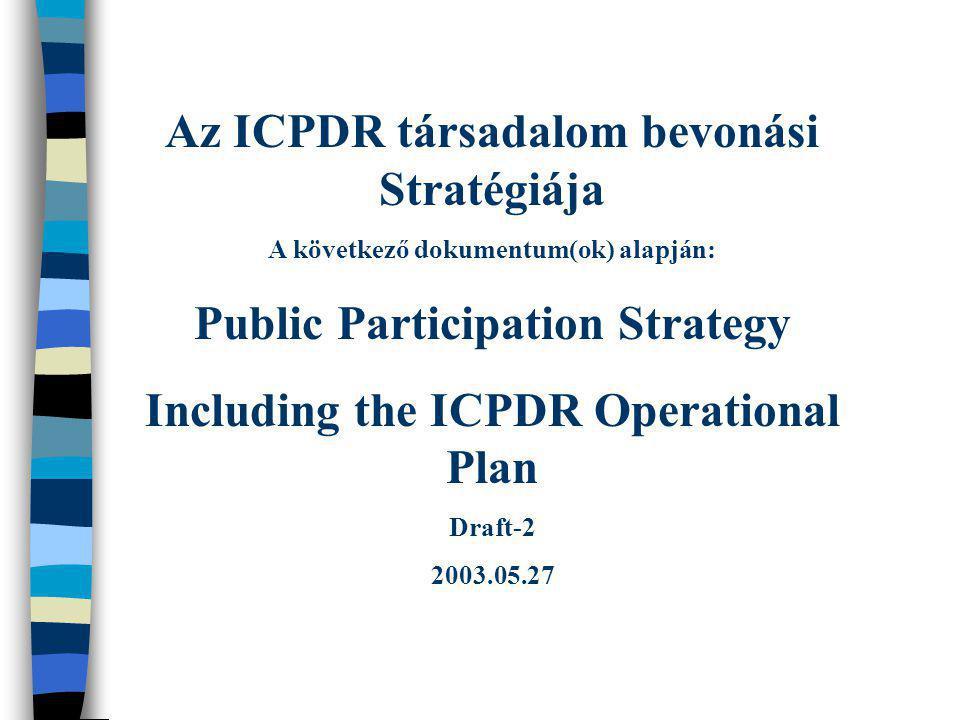 Az ICPDR társadalom bevonási Stratégiája