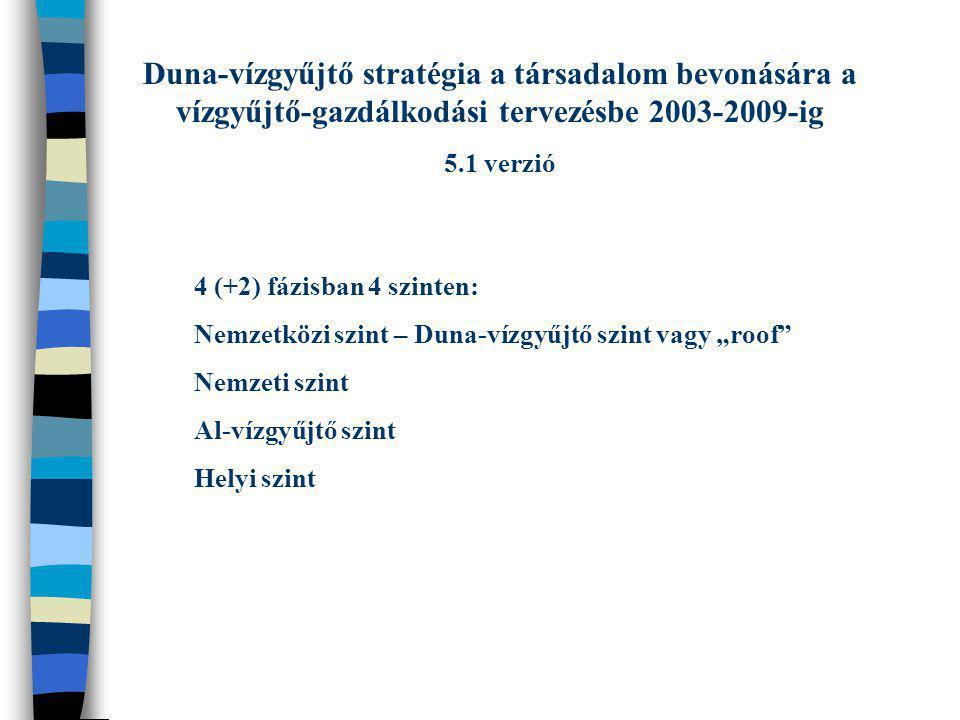 Duna-vízgyűjtő stratégia a társadalom bevonására a vízgyűjtő-gazdálkodási tervezésbe 2003-2009-ig