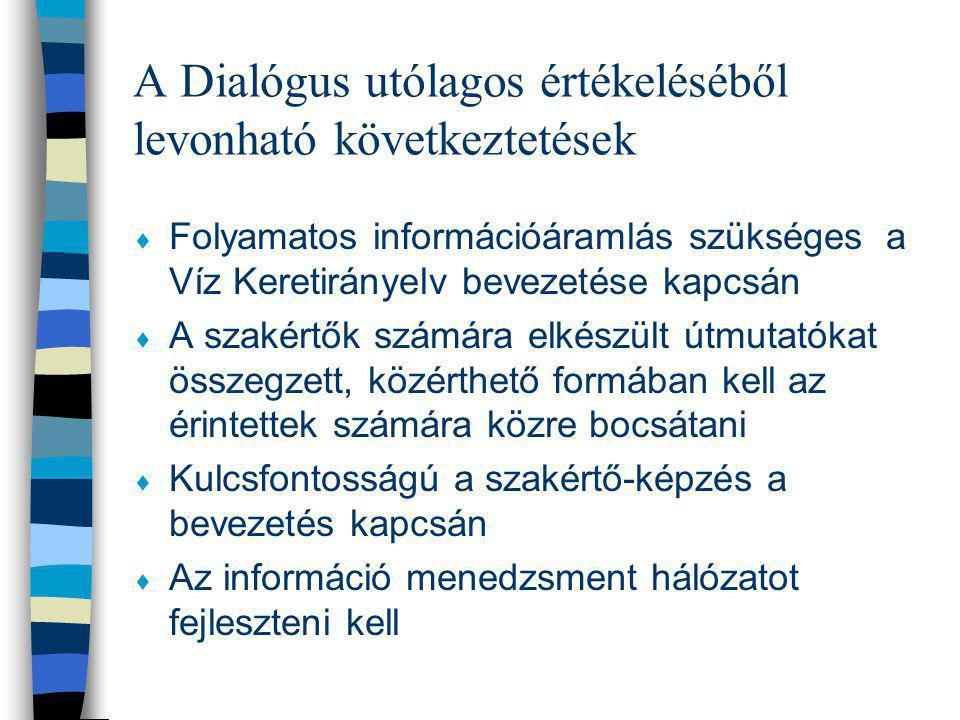 A Dialógus utólagos értékeléséből levonható következtetések