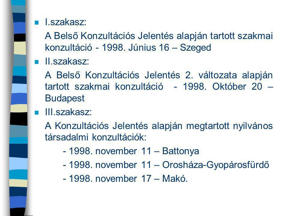- 1998. november 11 – Orosháza-Gyopárosfürdő